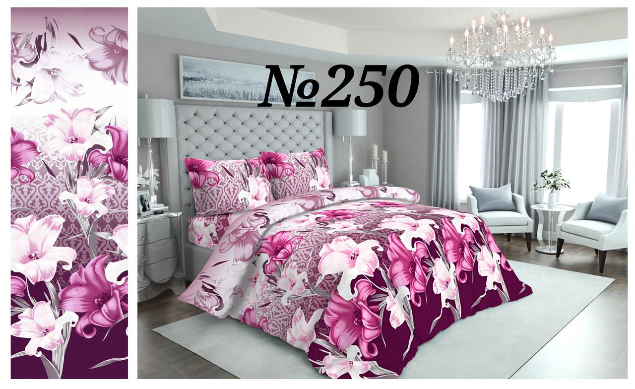 Постельное бельё Бязь GOLD Двуспальный комплект (розовые лилии)