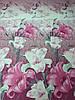 Постельное бельё Бязь GOLD Двуспальный комплект (розовые лилии), фото 2