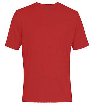 Футболка однотонная мужская, цвет красный, круглая горловина