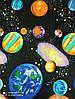 Постельное бельё Бязь GOLD Двуспальный с европростынью комплект (космос планеты галактика), фото 2