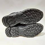 45 р. Мужские кроссовки сетка с текстилем Адидас (Adidas) Черные Последняя пара, фото 8