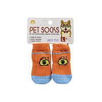 Антиковзні шкарпетки для собак Taotaopets 331 Money L з бавовни