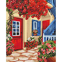 Картина малювання за номерами Ідейка Гуляючи вуличками КНО3581 40х50см набір для розпису, фарби, пензлі, полотно