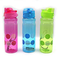 "Бутылка для воды ""Trip"" 500мл, прозр., петля, mix, 1шт/этик."