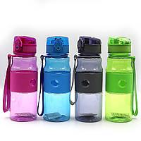 """Бутылка для воды """"Urban"""" прозр, петля, резин держатель, замок, 550мл,mix4, 1шт/этик."""