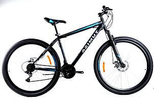 Спортивный горный велосипед 29 дюймов Azimut Energy Shimano GD 21 рама черно-синий