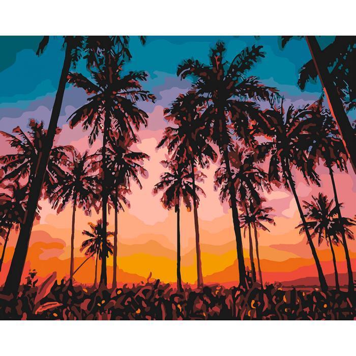 Картина малювання за номерами Ідейка Екзотичне надвечір'я 40х50см КНО2257 набір для розпису, фарби, пензлі,