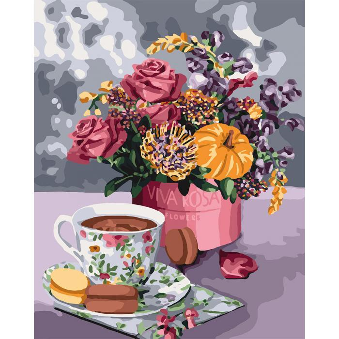 Картина рисование по номерам Идейка Аромат любви 40х50см КНО3068 набор для росписи, краски, кисти, холст