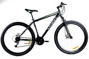 Спортивный горный велосипед 29 дюймов Azimut Energy Shimano GD 21 рама черно-зеленый