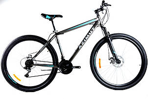 Спортивный горный велосипед 29 дюймов Azimut Energy Shimano GD 21 рама серо-синий