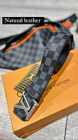 Модний ремінь Louis Vuitton c натуральної шкіри , люкс копія