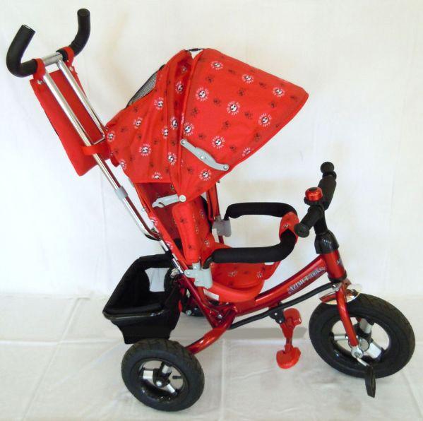 Детский трехколесный велосипед Azimut Trike  BC-17B красный надувные колеса