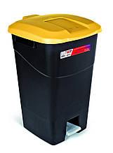 Ведро для мусора 60л Eco Tayg (Испания) , 40*43*65см с педалью и ручками (431012)