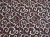 Постельное бельё Бязь GOLD Двуспальный с европростынью комплект (вензеля на коричневом фоне), фото 2