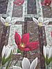 Постільна білизна Бязь GOLD Двоспальний комплект (червоні нарциси), фото 2