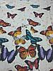 Постельное бельё Бязь GOLD Двуспальный комплект (бабочки на белом фоне), фото 2