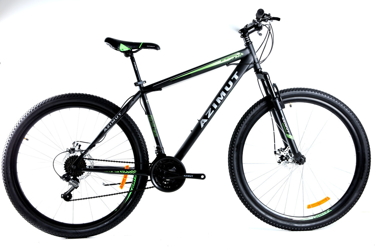 Спортивный горный велосипед 29 дюймов Azimut Energy D 21 рама черно-зеленый