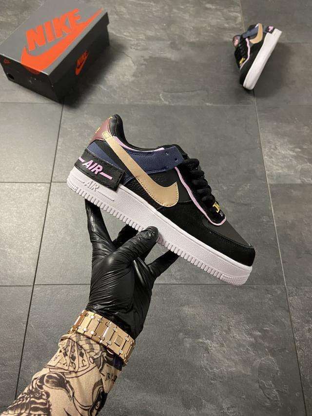 Женские кроссовки Nike Air Force 1 Low Shadow Black Blue фото