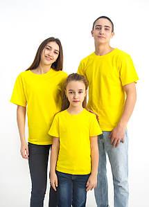 Універсальна футболка вільного крою (жовтого кольору)