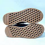 42,44,45,46 р Чоловічі весняні кросівки з текстилю з замшевими вставками Adidas Iniki (Адідас Иники) Чорні, фото 7