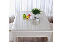 Прозрачная клеенка на стол - мягкое стекло Защита для мебели ширина 60см толщина 1 мм
