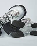 Ботинки кожаные женские белые на шнурке и массивной подошве. Турция, фото 3