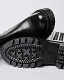 Ботинки кожаные женские черные на резинке сбоку. Турция, фото 4