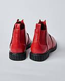 Женские ботинки красные  с пряжкой. Турция, фото 3