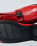 Женские ботинки красные  с пряжкой. Турция, фото 4