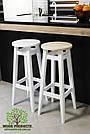 Барний стілець білий-масло круглий бук (80*31*31см), фото 2