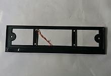 Рамка под номерной знак с подсветкой (черная)