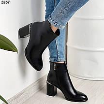 Ботильоны черные острый носок эко кожа, фото 3