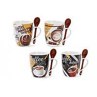 """Чашка керам. 350мл """"Coffee"""" з ложкою 334-404/Bonadi"""