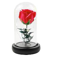 Роза в колбе с LED подсветкой маленькая красная №А51