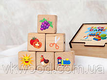 Деревянные кубики для детского развития