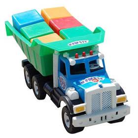 Машина Фарго + кубики великі 6шт (52*20*21,5 см) 009/5 Бамсик