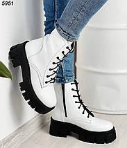 Белые женские ботинки натуральная кожа, фото 3