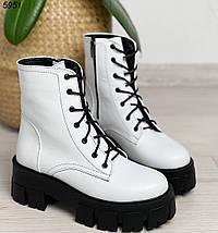 Белые женские ботинки натуральная кожа, фото 2