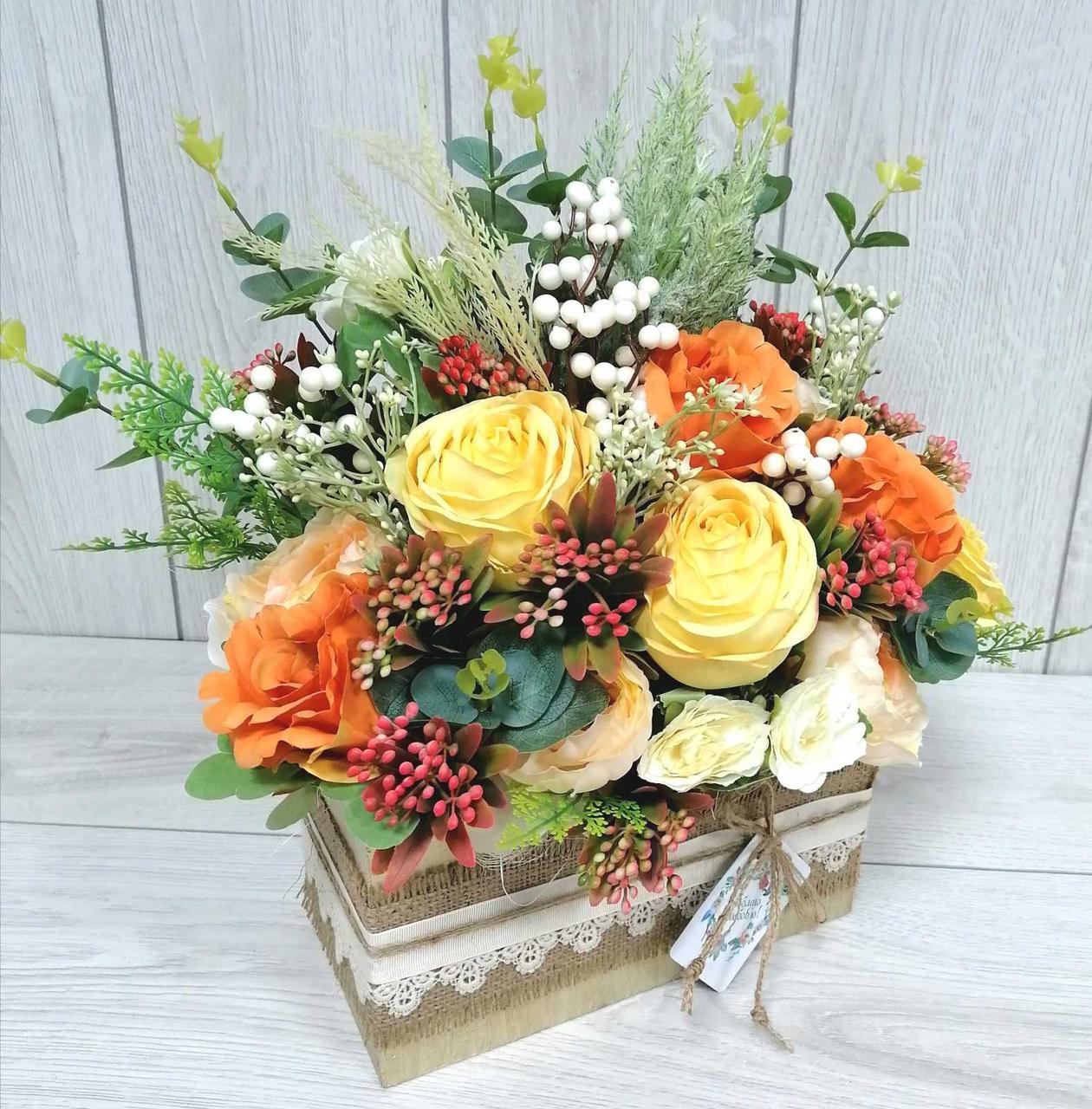 Композиція  Волинські візерунки  квіти в конверті