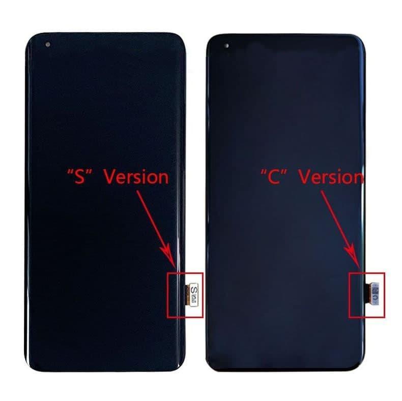 Дисплей (экран) для Xiaomi Mi 10 Pro с сенсором (тачскрином) черный  версия S Оригинал