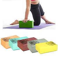 Блок для йоги EVA 23 х 7.5 х 15 см йога-блок, фото 1