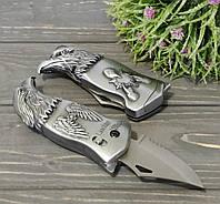 Запальничка з ножем Орел срібляста