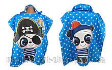 Детские полотенца с капюшоном Keekers Панда мальчик