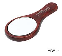 Зеркало косметическое на деревянной основе  с ручкой Lady Victory (12.6 × 7.8 cм.) LDV MFW-02 /36-0