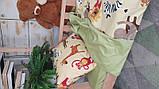 Постельное белье детское полуторное Сатин Животные, фото 2
