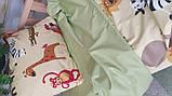 Постельное белье детское полуторное Сатин Животные, фото 3