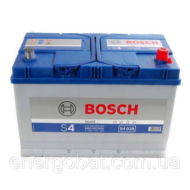 Аккумулятор автомобильный Bosch S4 028 95Аh 0092S40280 -  Компания авто запчастей аккумуляторов и тюнинга ENERGOBAT в Киеве