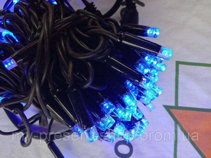 Новогодние светодиодные гирлянды и лампы Новогодняя светодиодная гирлянда УЛИЧНАЯ 100LED 10м синий
