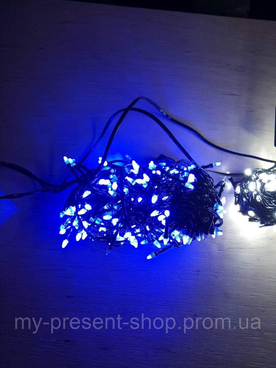 Новогодние светодиодные гирлянды и лампы Новогодняя светодиодная гирлянда КОНУС 300LED 19,5м синий
