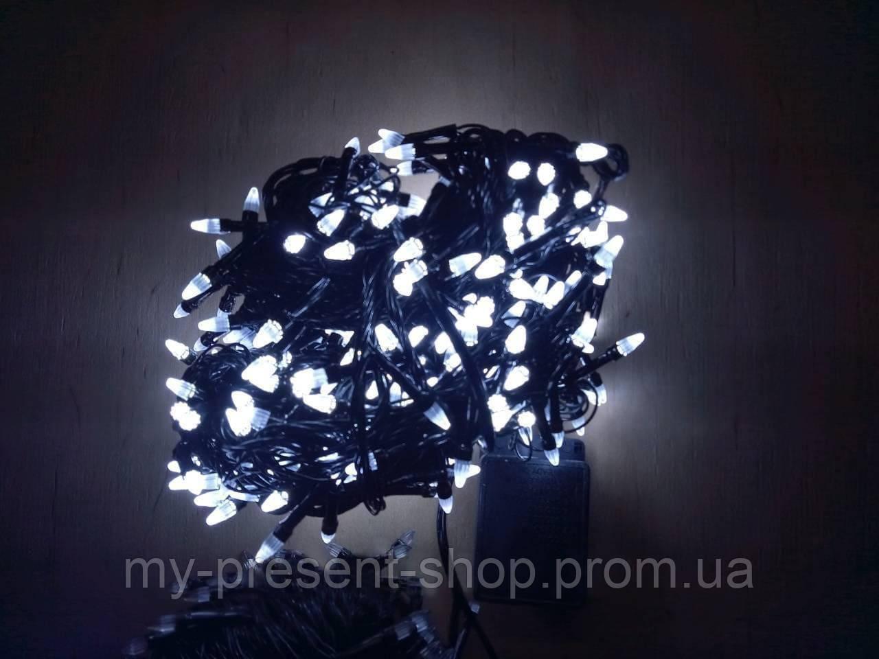 Новогодние светодиодные гирлянды и лампы Новогодняя светодиодная гирлянда КОНУС 300LED 19,5м белый